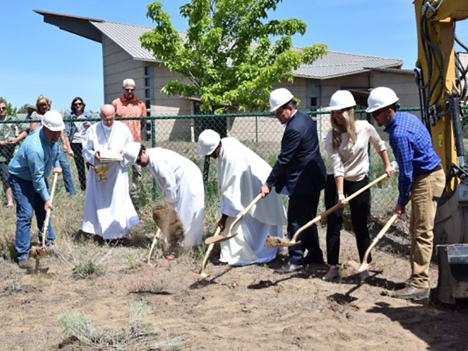 Hayden Homes and St. Francis of Assisi officials break ground on a new convent
